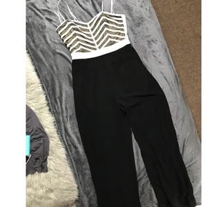 Urban Black and White Jumpsuit